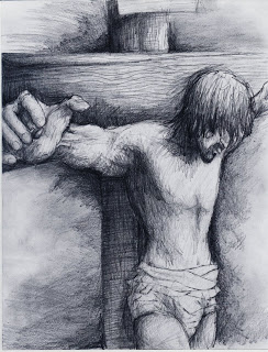 Jordan Brame - Christ on the cross - pencil.jpg